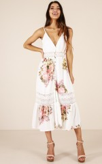 Lily Field maxi dress in white floral