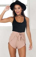 Ride The Thrill top in black