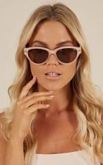 Quay - Rizzo sunglasses in cream and brown