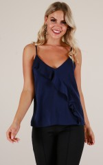 Morning Coffee top in navy