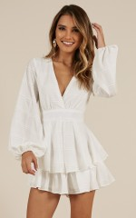 On Rotation playsuit in white