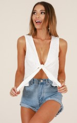 Getaway Plan top in white