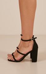 Billini - Marlie Heels in black micro