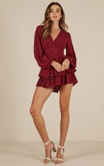 On Rotation playsuit in wine
