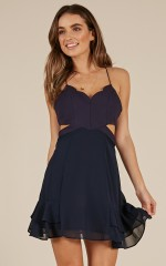 Carry Yourself dress in navy