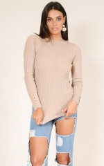 Keep It From You knit in mocha