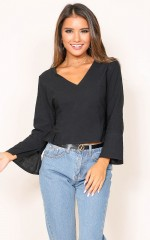 Lost In The Light top in black