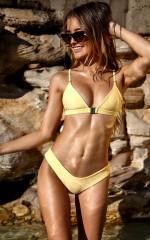 Sedona Bikini Top in Lemon