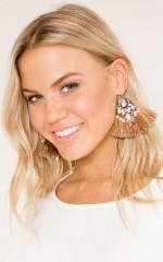 How About That Earrings in beige