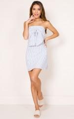 Invincible Dress in white stripe