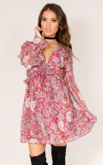 Evolution Of You dress in wine print