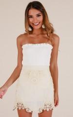 A True Love Story skirt in cream