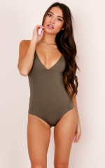 Admirable Bodysuit in khaki