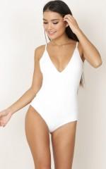 Admirable Bodysuit in white