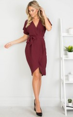 All Shook Up Dress in Wine