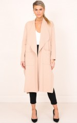 Almost Friends coat in beige