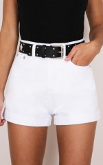 Another Life Shorts in white