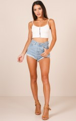Ava Shorts in Mid Wash Denim