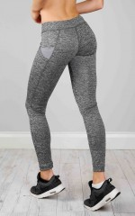 Bad Sport Tights in grey marle