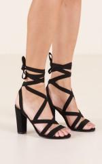 Billini - Baku Heels in black micro
