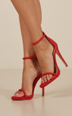 Billini - Damita Heels in red suede