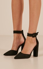 Billini - Gracie Heels in black micro