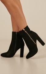 Billini - Lori Boots in black micro