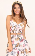 Birdcage Top in Blush Floral