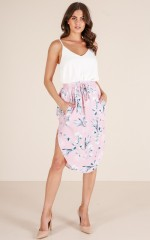 Bold And Brave skirt in blush floral