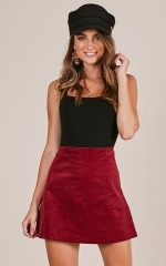 Broken Halos skirt in wine