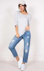 Attica T-shirt in grey stripe
