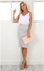 Claim It Back skirt in grey