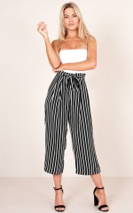 Close to Me pants in black stripe