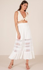 Connected To You maxi skirt in white