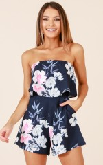 Cool Breeze playsuit in navy floral