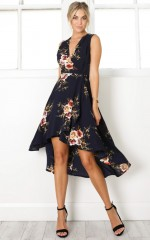 Creation Dress in navy floral