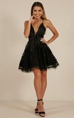 Moon Beam dress in black