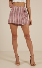 Passionate skort in red stripe