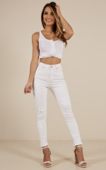 Brooke Skinny Jeans in White