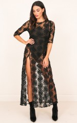 Dream Town Dress in Black Lace