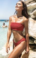 Mallory Bikini Top in Tuscan Rose