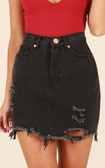 For The Thrill skirt in black