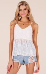 Forget About Me top in white