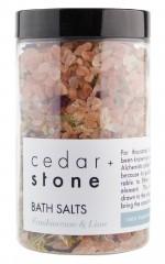 Cedar and Stone - frankincense and lime bath salts
