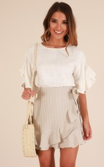 Ghost Of You top in white