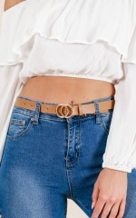 Gold Digger belt in tan and gold
