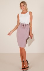 High Street skirt in taupe