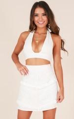 Hometown skirt in white