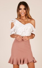 Innocent Lies crop top in white lace
