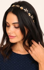 Instead Of You headband in gold